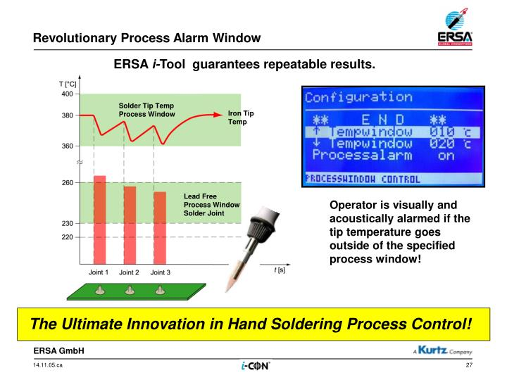 Revolutionary Process Alarm Window