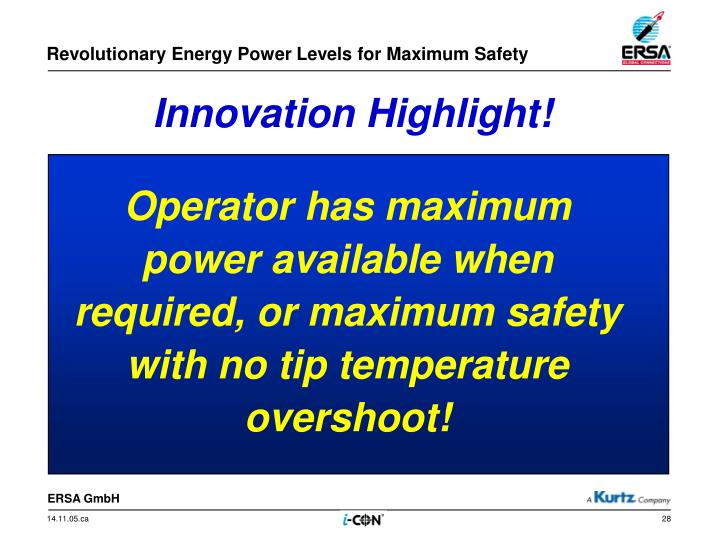 Revolutionary Energy Power Levels for Maximum Safety