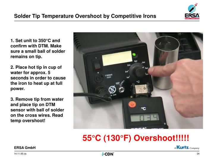 Solder Tip Temperature Overshoot by Competitive Irons
