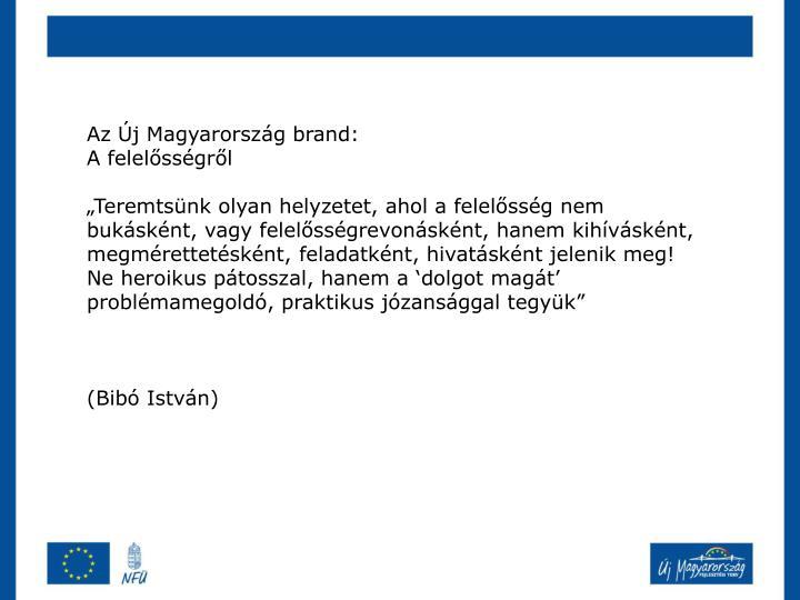 Az Új Magyarország brand: