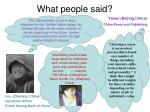 what people said1