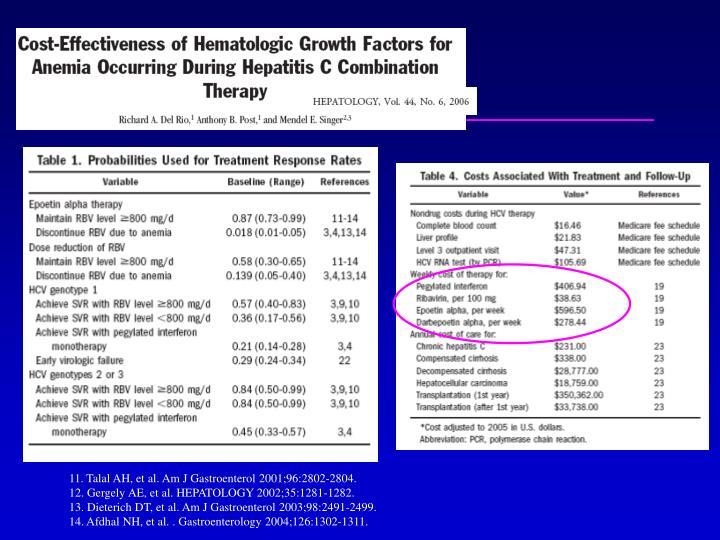 11. Talal AH, et al. Am J Gastroenterol 2001;96:2802-2804.