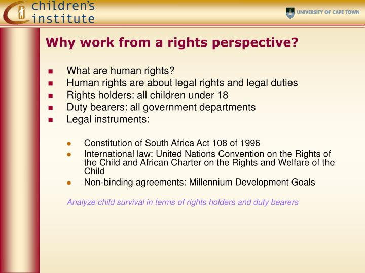 Why work from a rights perspective?