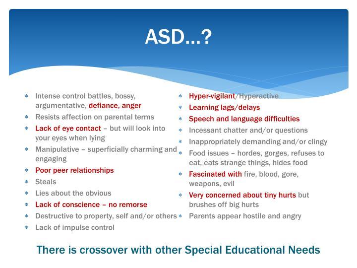 ASD…?