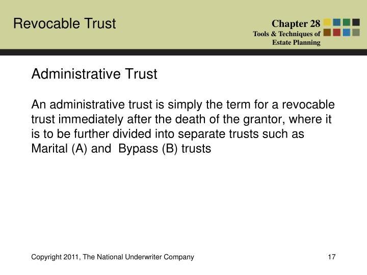 Administrative Trust