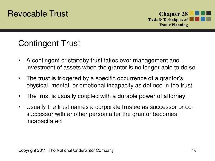 Contingent Trust