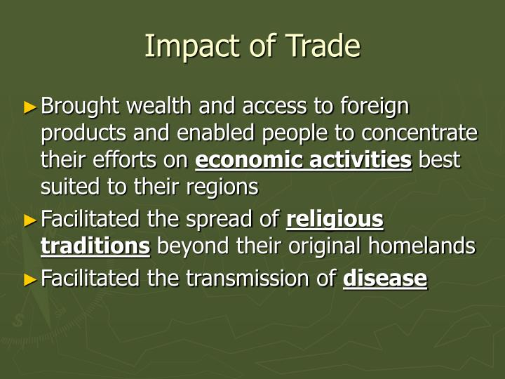 Impact of Trade