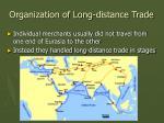 organization of long distance trade