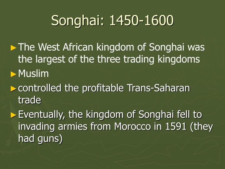 Songhai: 1450-1600