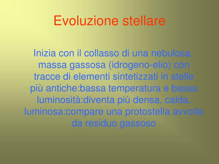 Evoluzione stellare