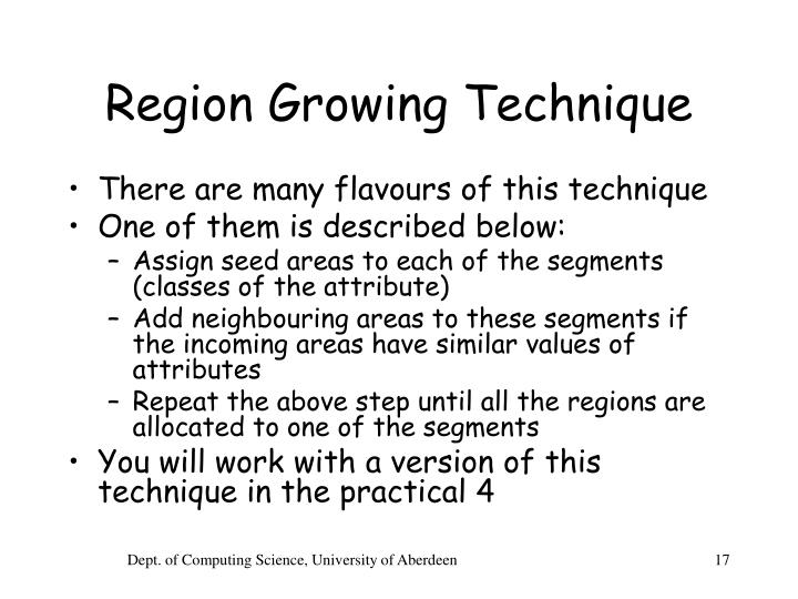Region Growing Technique