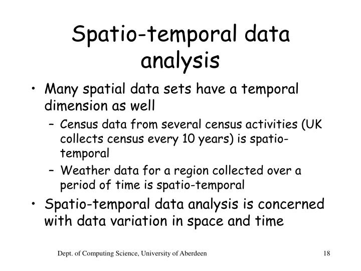 Spatio-temporal data analysis