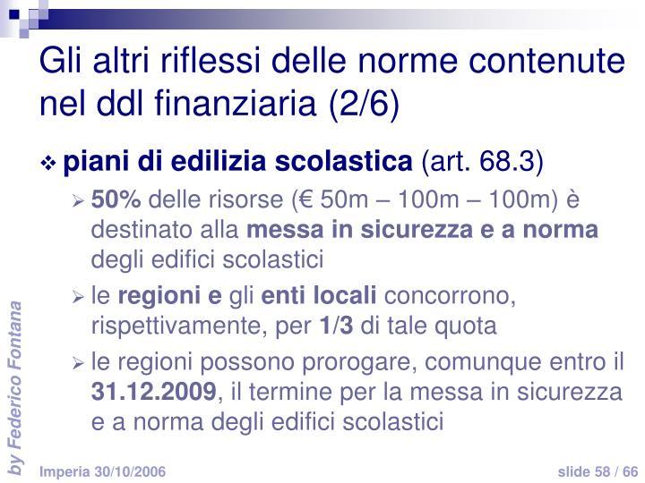 Gli altri riflessi delle norme contenute nel ddl finanziaria (2/6)