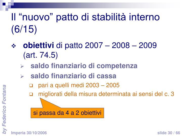 """Il """"nuovo"""" patto di stabilità interno (6/15)"""