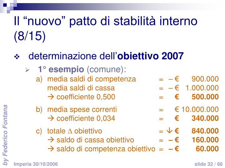 """Il """"nuovo"""" patto di stabilità interno (8/15)"""