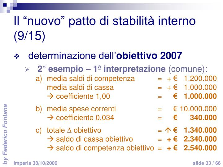 """Il """"nuovo"""" patto di stabilità interno (9/15)"""