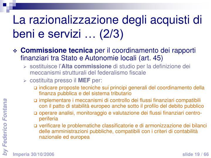 La razionalizzazione degli acquisti di beni e servizi … (2/3)