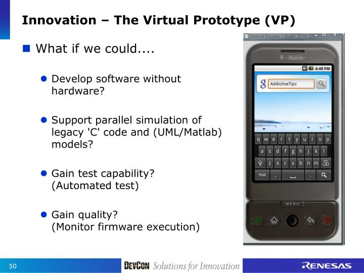 Innovation – The Virtual Prototype (VP)