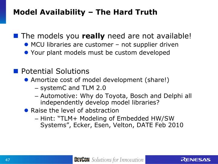 Model Availability – The Hard Truth