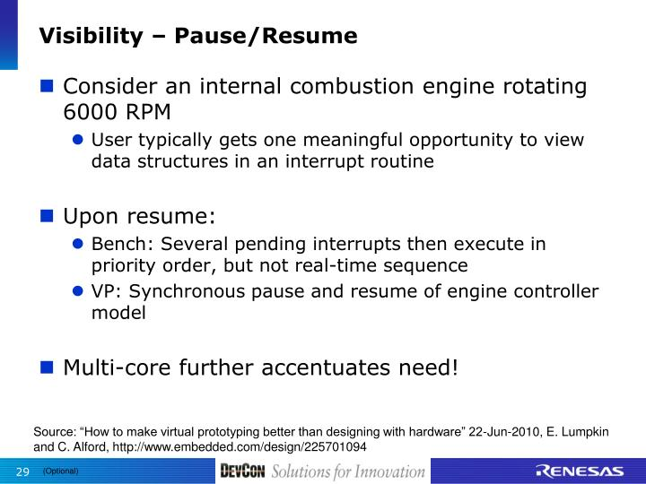 Visibility – Pause/Resume