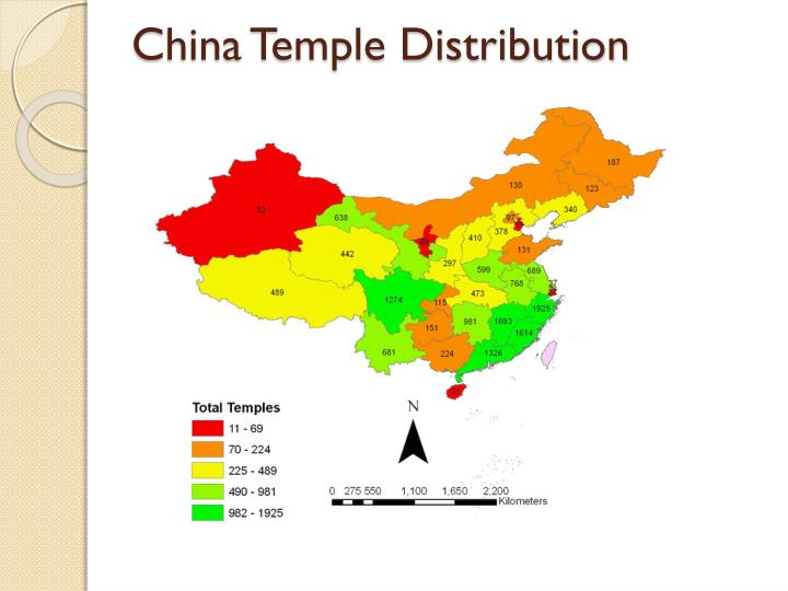 China Temple Distribution
