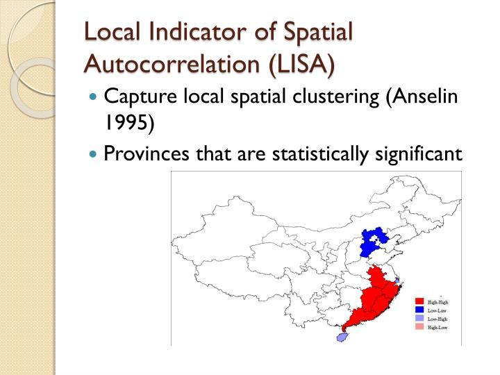 Local Indicator of Spatial Autocorrelation (LISA)