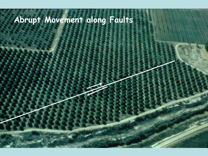Abrupt Movement along Faults