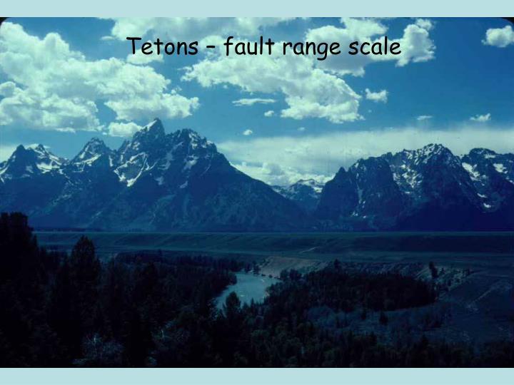 Tetons – fault range scale