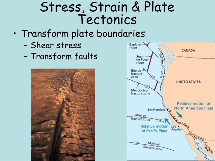 Stress, Strain & Plate Tectonics