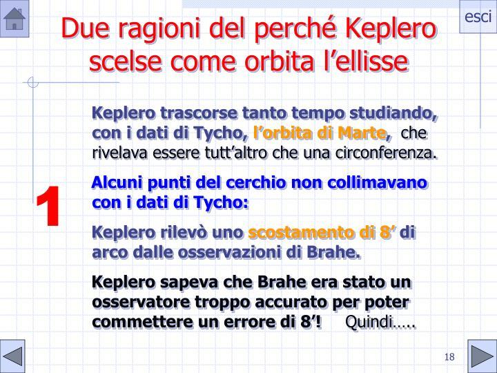 Due ragioni del perché Keplero