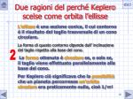 due ragioni del perch keplero scelse come orbita l ellisse1