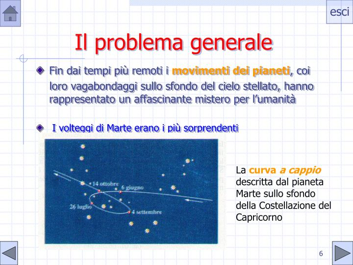 Il problema generale