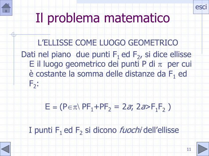 Il problema matematico