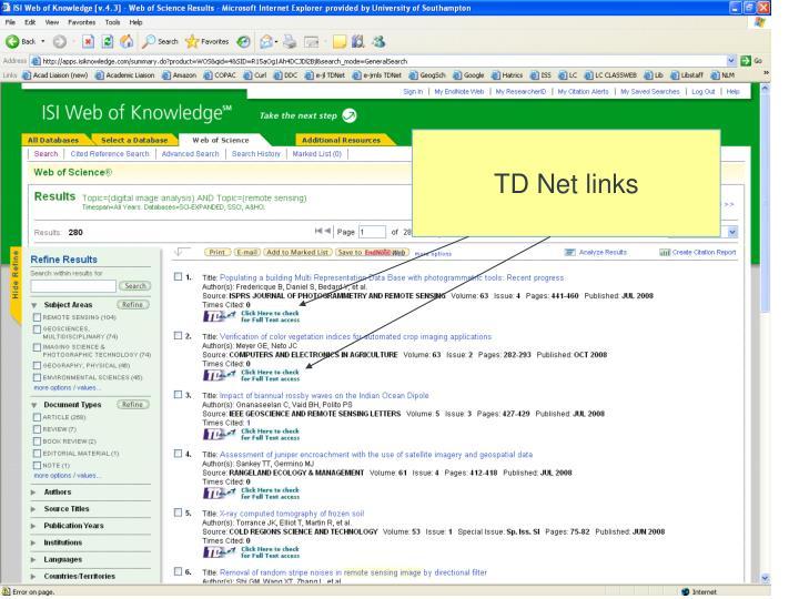 TD Net links