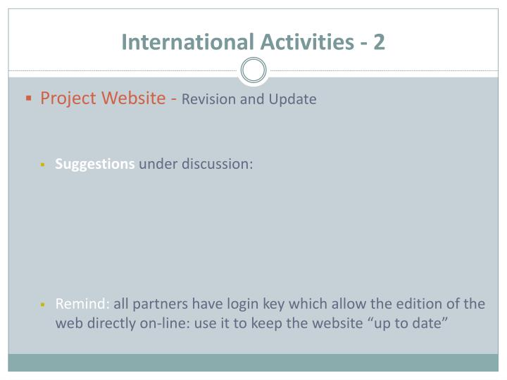 International Activities - 2