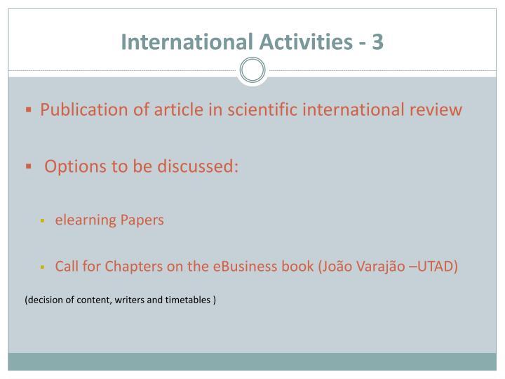International Activities - 3