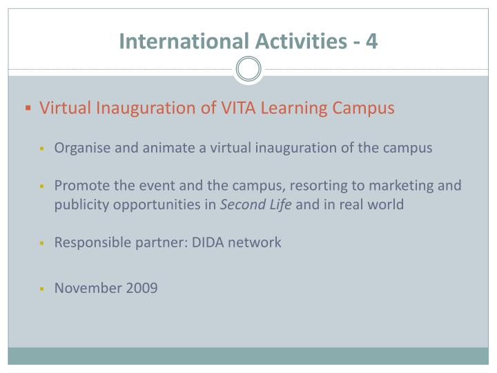 International Activities - 4