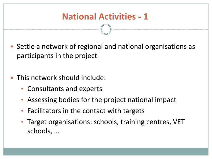 National Activities - 1