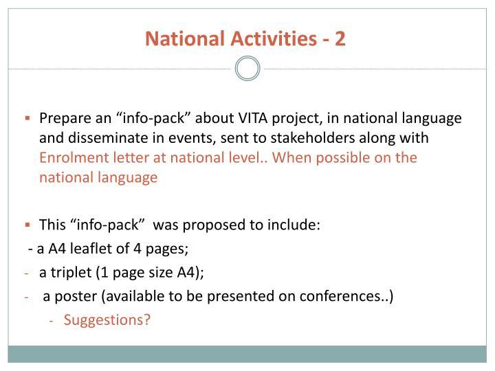 National Activities - 2