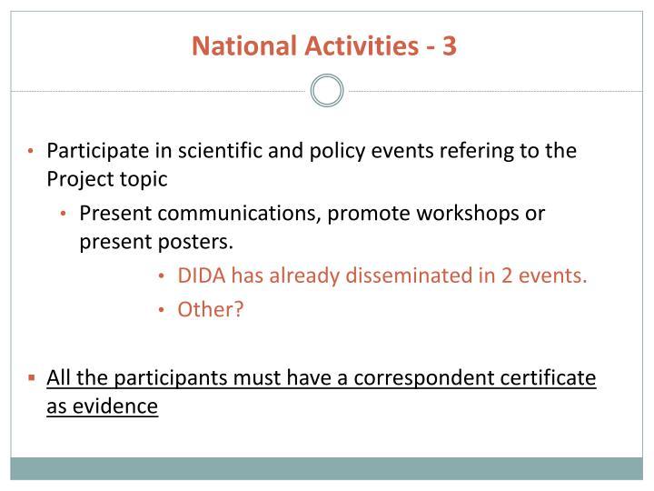 National Activities - 3