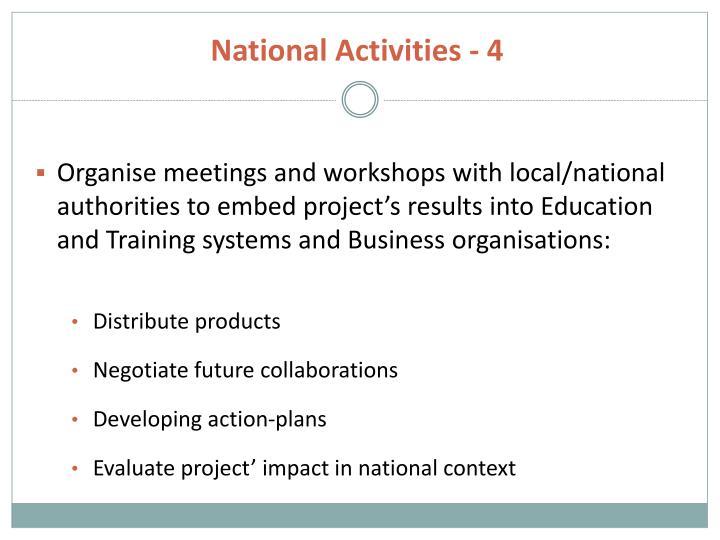 National Activities - 4