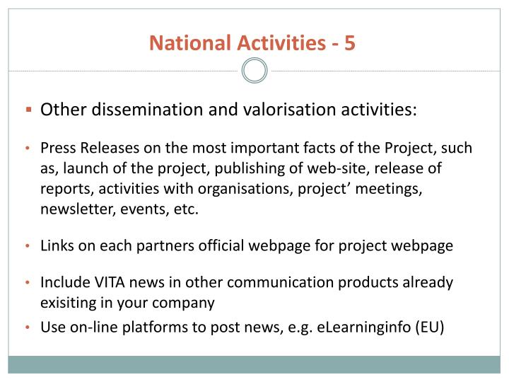 National Activities - 5