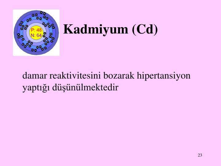 Kadmiyum (Cd)