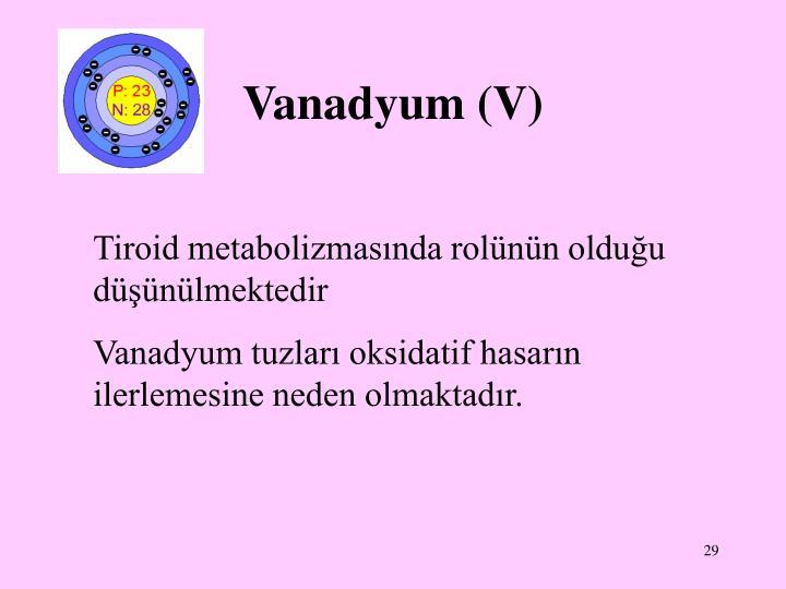 Vanadyum (V)