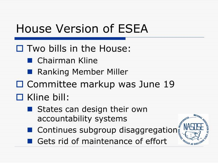 House Version of ESEA
