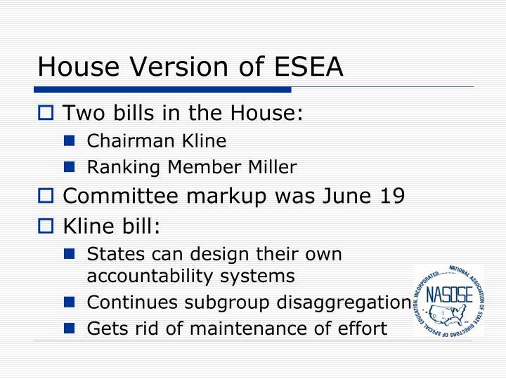 House Version of ESEA