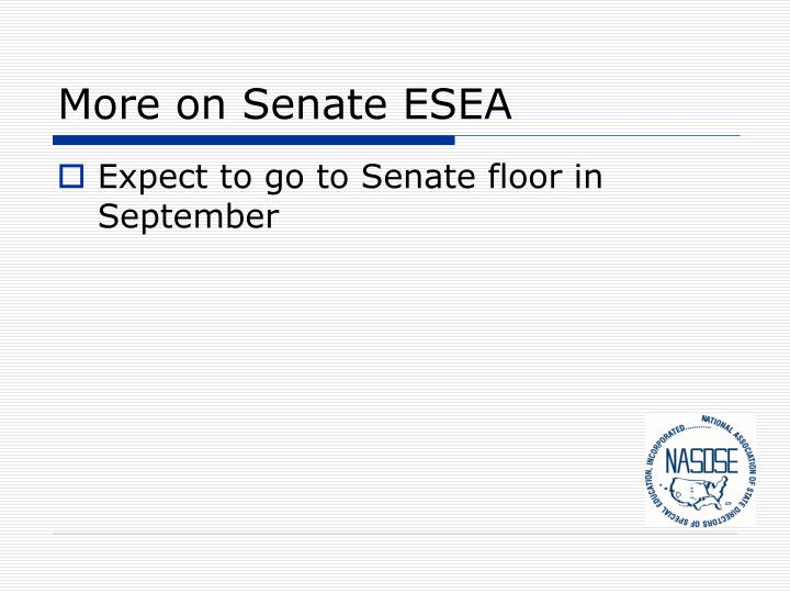 More on Senate ESEA