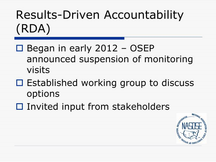 Results-Driven Accountability (RDA)