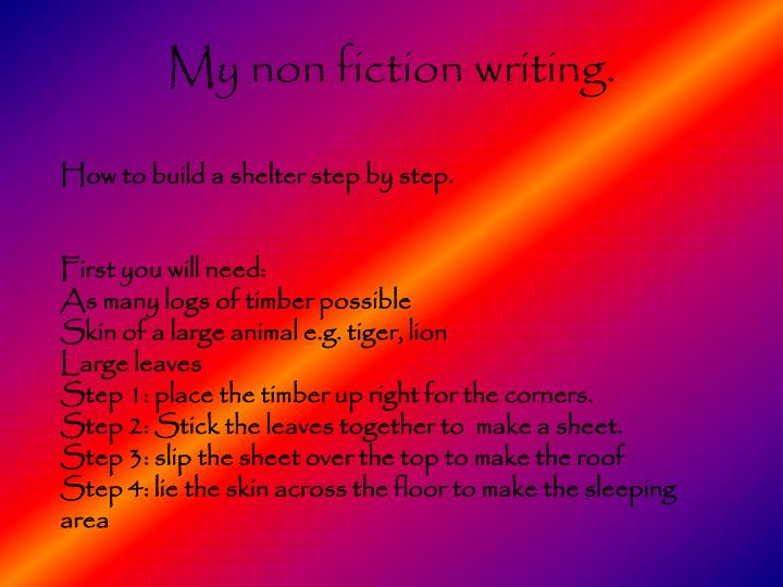 My non fiction writing.