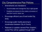 city comprehensive plan policies